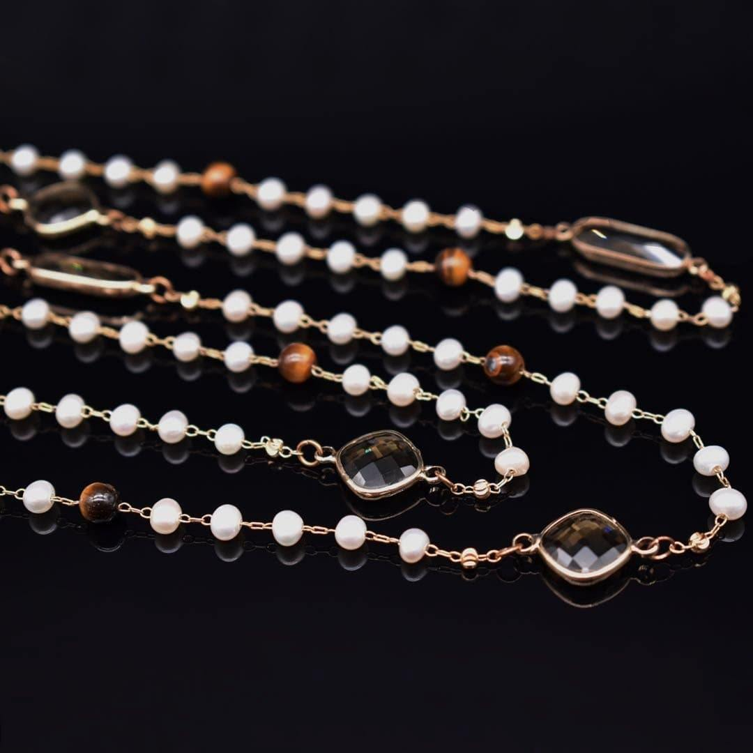 Freshwater Pearl Long Necklace - Taryn