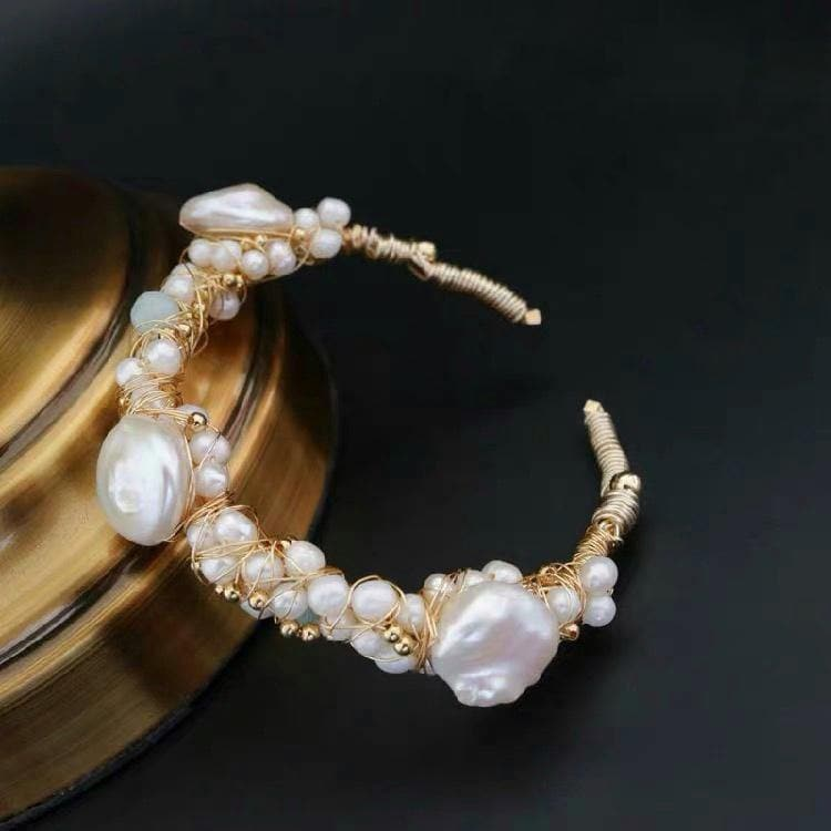 Baroque Pearl Bangle - Louisa