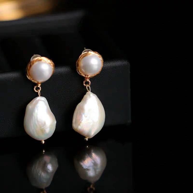 Baroque Pearl Earrings - Jane | Akuna Pearls | Freshwater Pearl Jewellery | Made in Australia