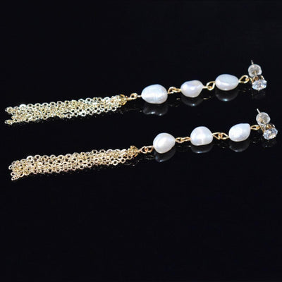 Baroque Pearl Earrings - Lucetta | Akuna Pearls | Freshwater Pearl Jewellery | Made in Australia