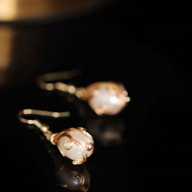 Baroque Pearl Earrings - Natalie | Akuna Pearls | Freshwater Pearl Jewellery | Made in Australia
