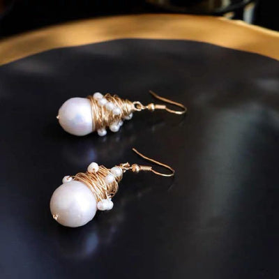 Baroque Pearl Earrings - Sharon | Akuna Pearls | Freshwater Pearl Jewellery | Made in Australia
