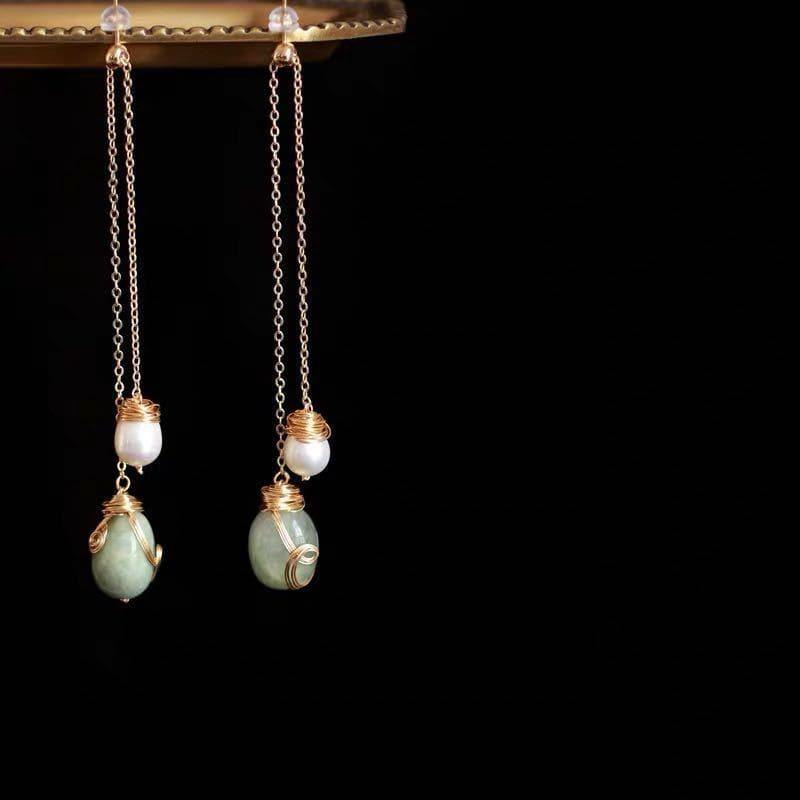 Freshwater Pearl Earrings - Jade | Akuna Pearls | Freshwater Pearl Jewellery | Made in Australia