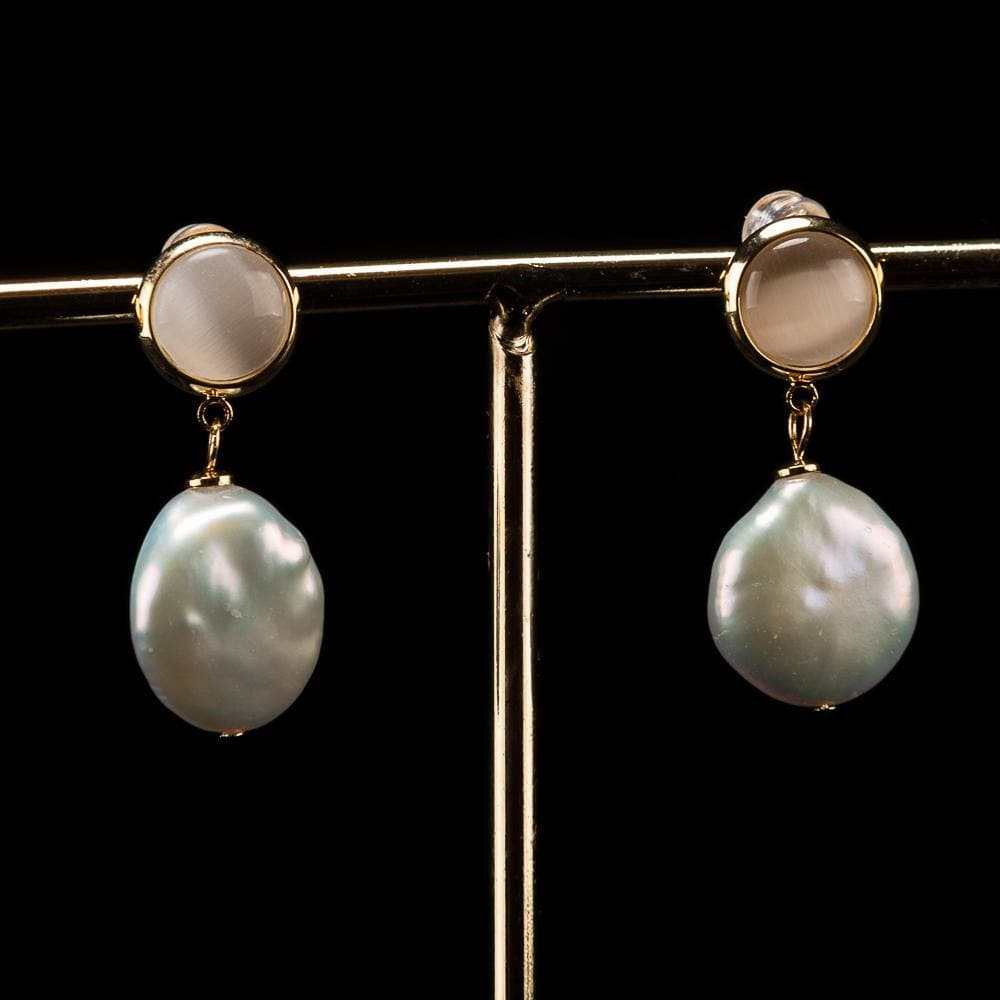 Baroque Pearl Earrings - Stephanie | Akuna Pearls | Freshwater Pearl Jewellery | Made in Australia