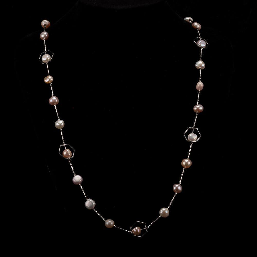 Baroque Pearl Long Necklace - Inspiring | Akuna Pearls | Freshwater Pearl Jewellery | Made in Australia