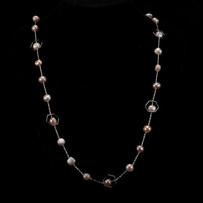 Baroque Pearl Long Necklace Multi Color - Inspiring | Akuna Pearls | Freshwater Pearl Jewellery | Made in Australia