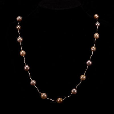 Baroque Pearl Long Necklace Multi Color - Lavish | Akuna Pearls | Freshwater Pearl Jewellery | Made in Australia