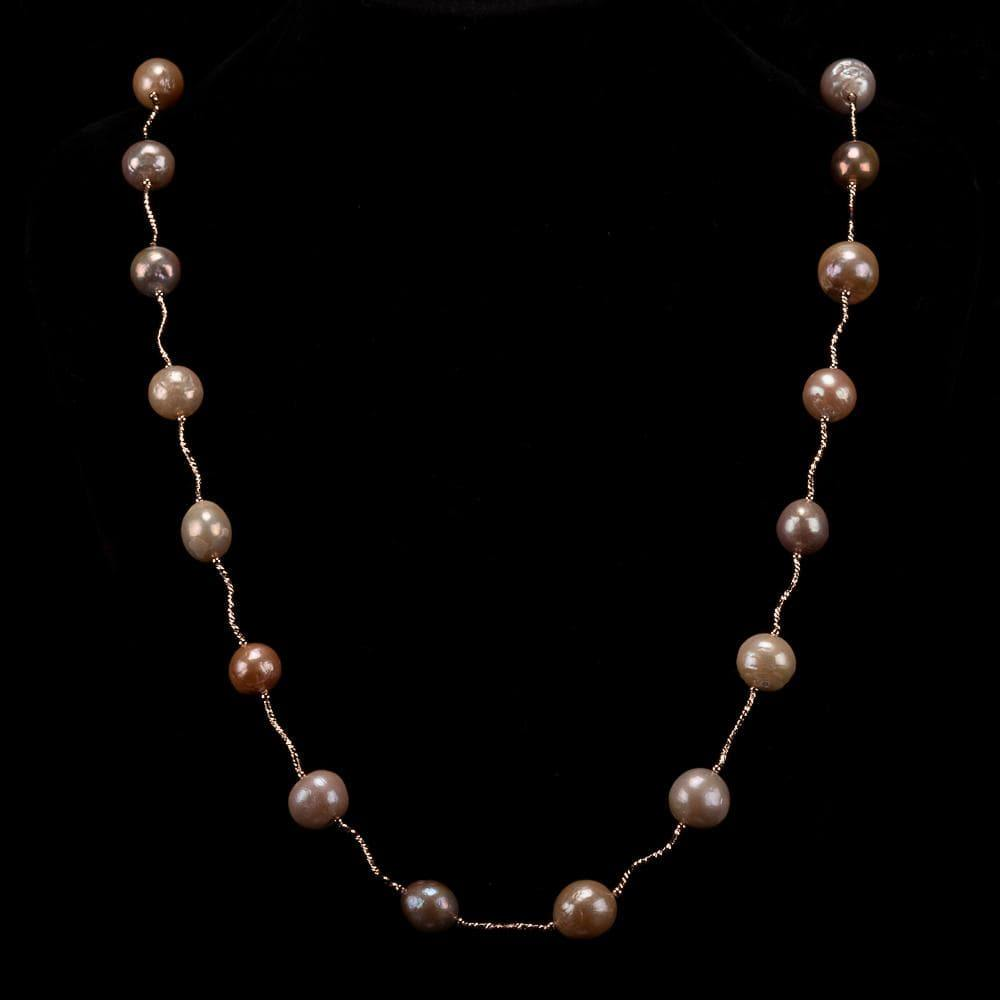 Baroque Pearl Long Necklace Multi Color - Treasure | Akuna Pearls | Freshwater Pearl Jewellery | Made in Australia