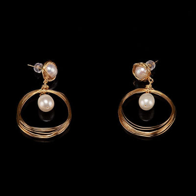 Baroque Pearl Studs - Loop | Akuna Pearls | Freshwater Pearl Jewellery | Made in Australia