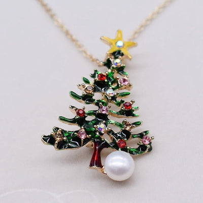 Freshwater Pearl Brooch - Christmas Tree | Akuna Pearls | Freshwater Pearl Jewellery | Made in Australia
