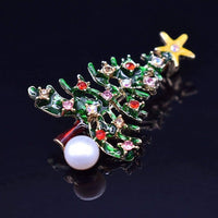 Freshwater Pearl Brooch - Christmas Tree