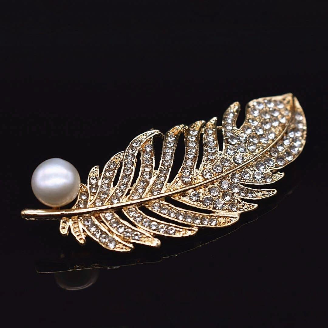 Freshwater Pearl Brooch - Feather | Akuna Pearls | Freshwater Pearl Jewellery | Made in Australia