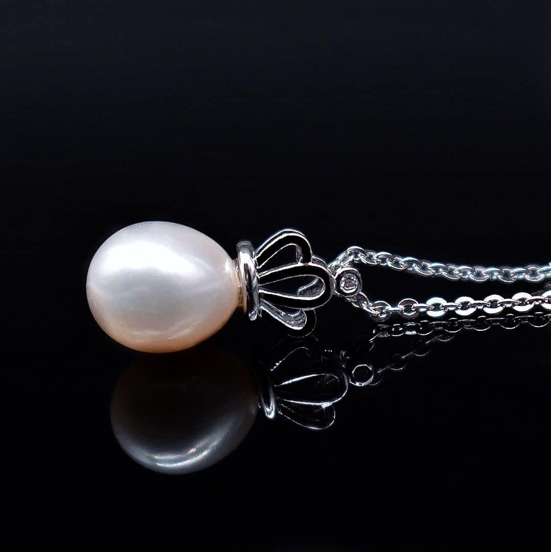 Freshwater Pearl Pendant Necklace - Gwen - Akuna Pearls