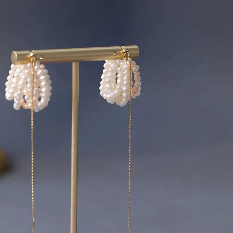 Baroque Pearl Earrings - Cassiopeia - Akuna Pearls
