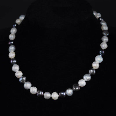 Classic Freshwater Pearl Necklace Side Flatted - Rama | Akuna Pearls | Freshwater Pearl Jewellery | Made in Australia