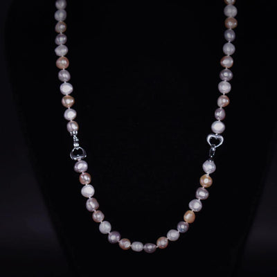 Classic Freshwater Pearl Set Side Flatted - Rama | Akuna Pearls | Freshwater Pearl Jewellery | Made in Australia