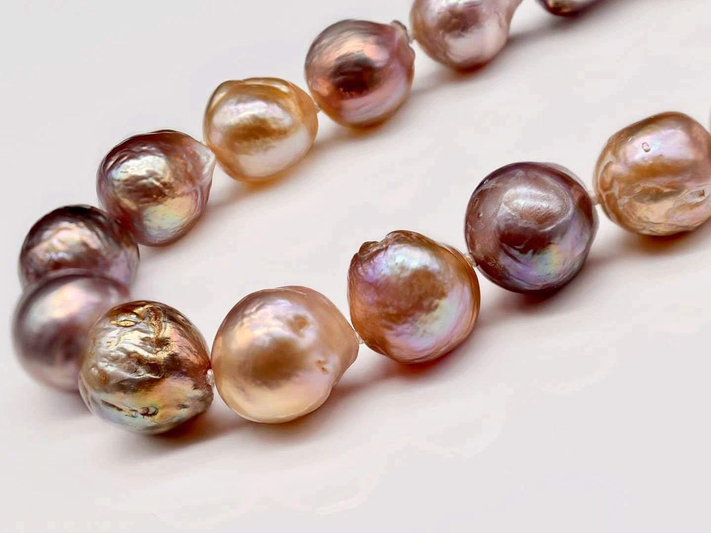 Classic Baroque Pearl Necklace - Cleta - Akuna Pearls