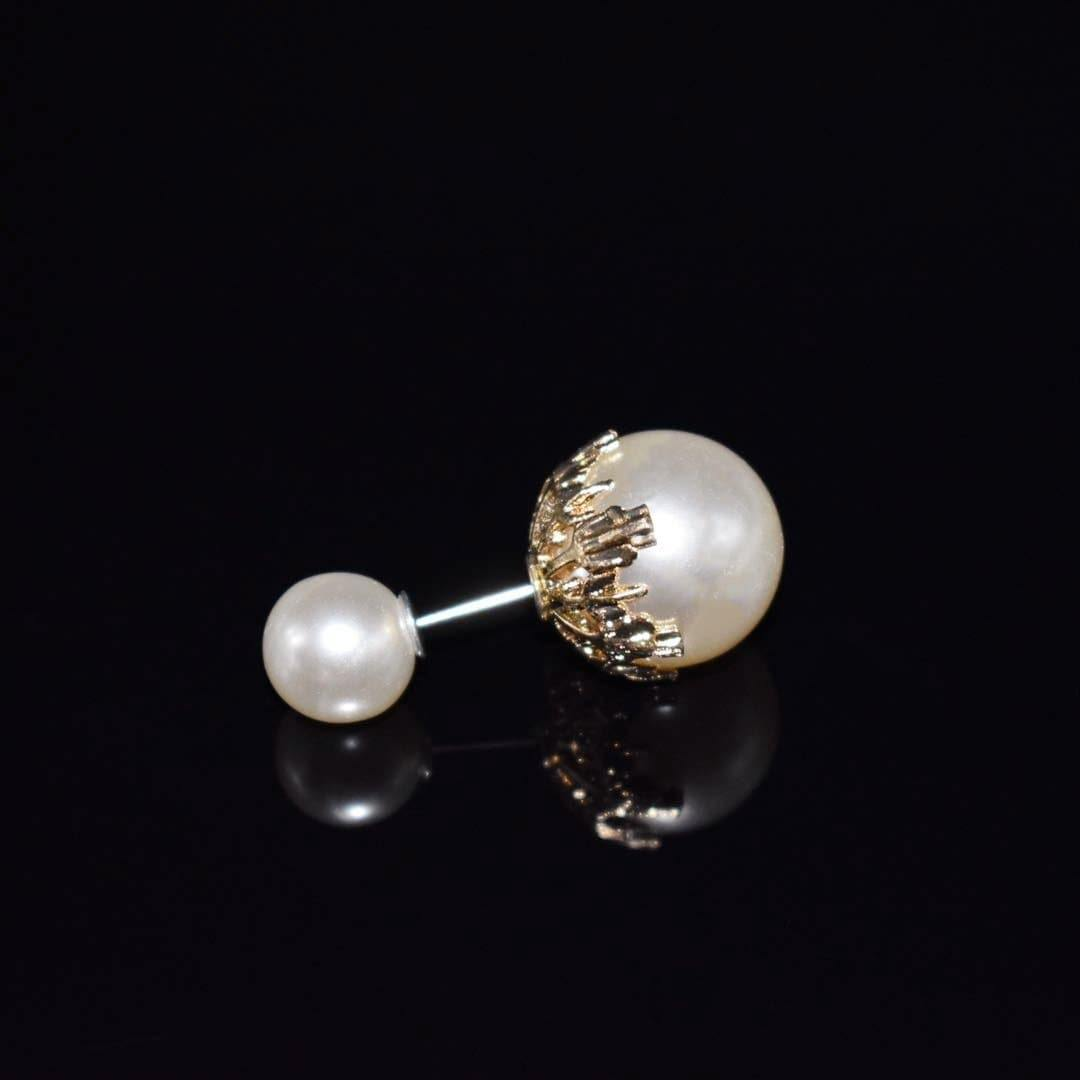 Faux Pearl Fashion Pin - Two Beads Design | Akuna Pearls | Freshwater Pearl Jewellery | Made in Australia