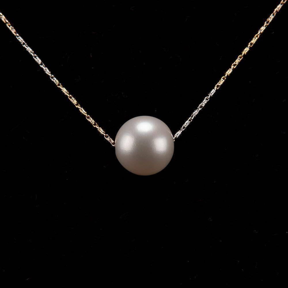 Freshwater Pearl Floating Necklace - Minimalism | Akuna Pearls | Freshwater Pearl Jewellery | Made in Australia