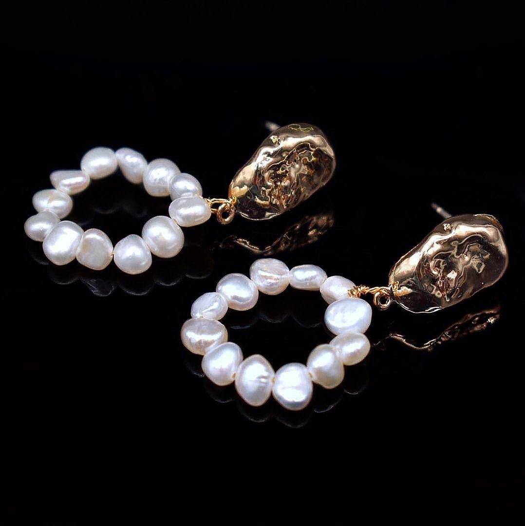 Baroque Pearl Earrings - Florence