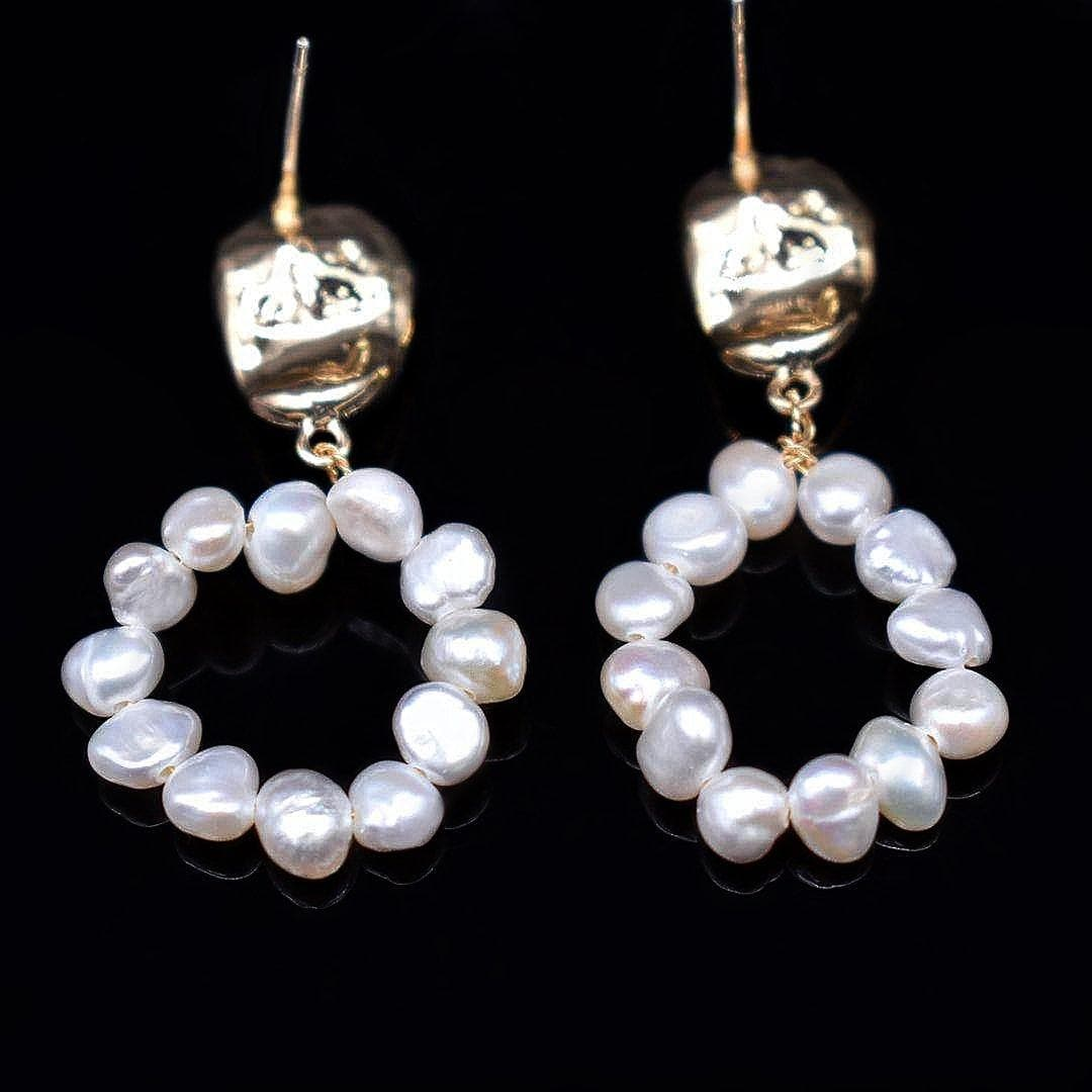 Baroque Pearl Earrings - Florence - Akuna Pearls