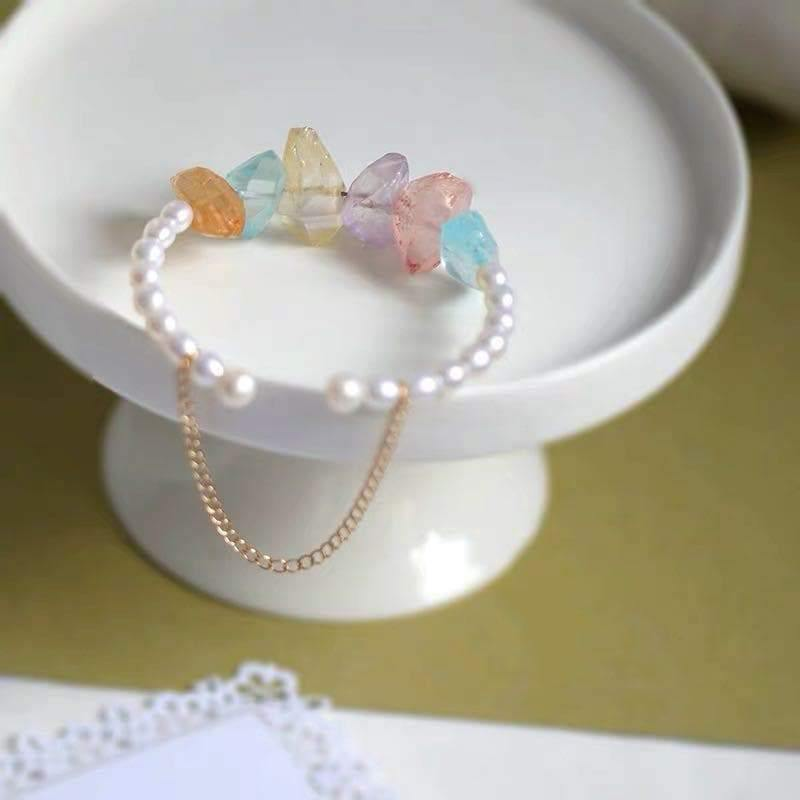 Freshwater Pearl Bangle - Candy - Akuna Pearls