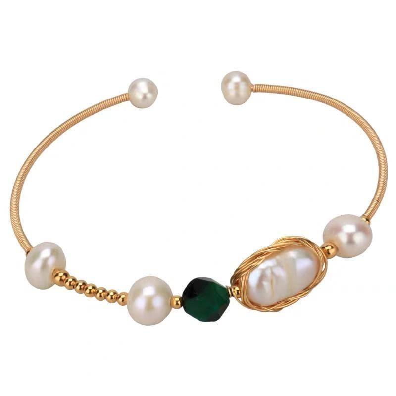 Freshwater Pearl Bangle - Dell - Akuna Pearls