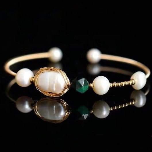 Freshwater Pearl Bangle - Dell | Akuna Pearls | Freshwater Pearl Jewellery | Made in Australia