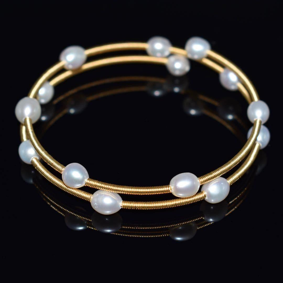 Freshwater Pearl Bangle - Power - Akuna Pearls