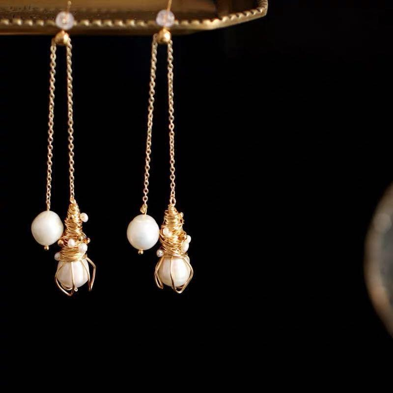 Baroque Pearl Earrings - Madeleine | Akuna Pearls | Freshwater Pearl Jewellery | Made in Australia