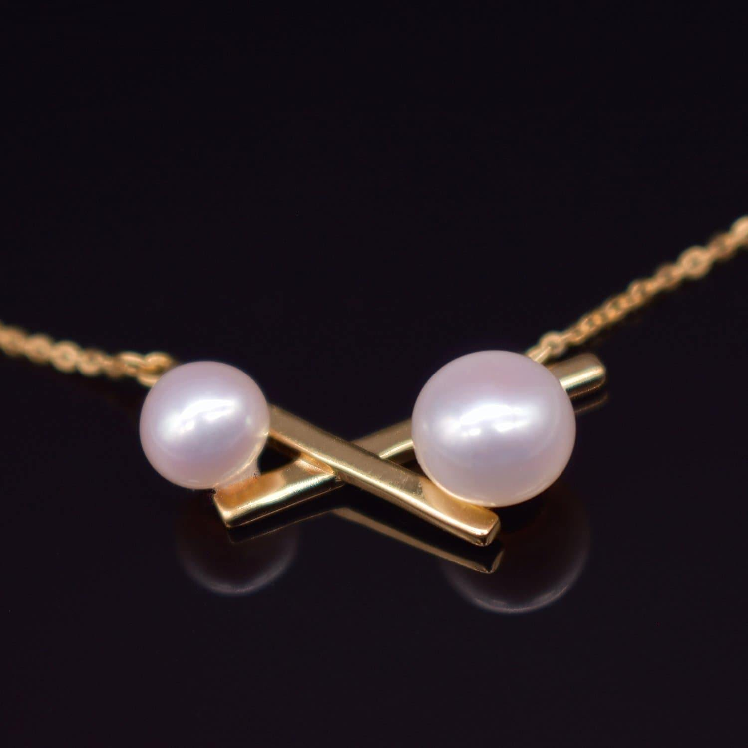 Freshwater Pearl Necklace - Balance Cross