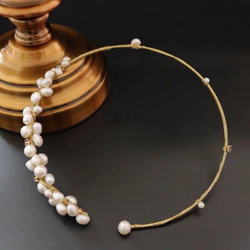 Freshwater Pearl Open Choker Necklace | Akuna Pearls | Freshwater Pearl Jewellery | Made in Australia