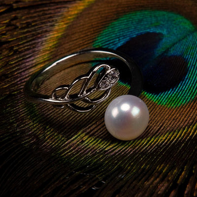 Freshwater Pearl Ring - Peacock Tail | Akuna Pearls | Freshwater Pearl Jewellery | Made in Australia