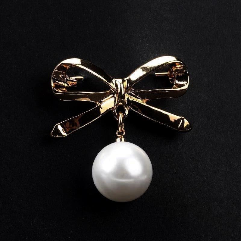 Faux Pearl Fashion Pin - Bow Design | Akuna Pearls | Freshwater Pearl Jewellery | Made in Australia