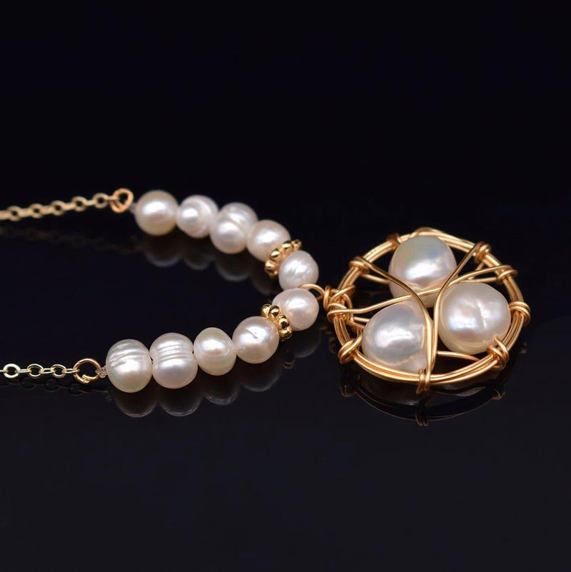 Baroque Pearl Necklace - Lizbeth | Akuna Pearls | Freshwater Pearl Jewellery | Made in Australia