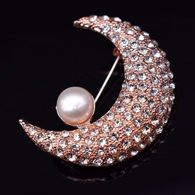Freshwater Pearl Brooch - The Moon | Akuna Pearls | Freshwater Pearl Jewellery | Made in Australia