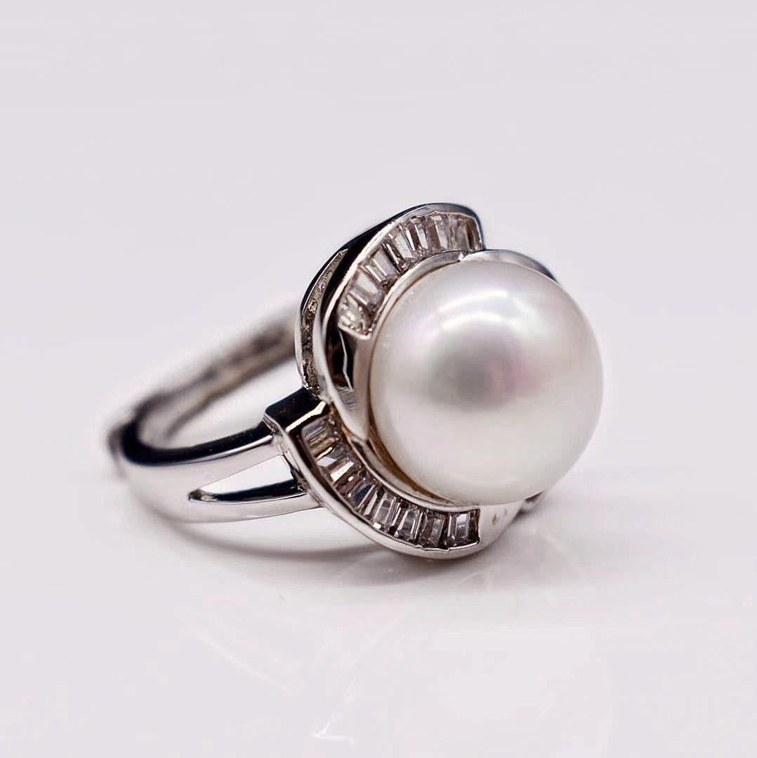 Freshwater Pearl Adjustable Ring - Ivalo - Akuna Pearls