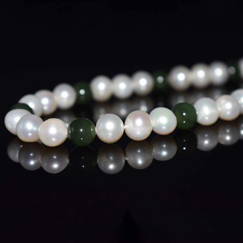 Classic Freshwater Pearl Necklace - Jade | Akuna Pearls | Freshwater Pearl Jewellery | Made in Australia