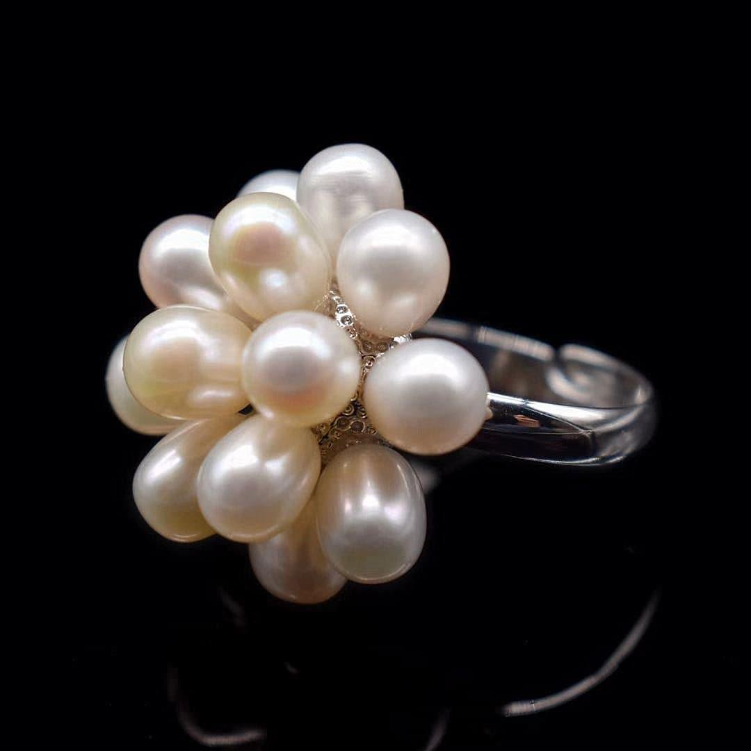 Freshwater Pearl Adjustable Ring - Jonquil - Akuna Pearls
