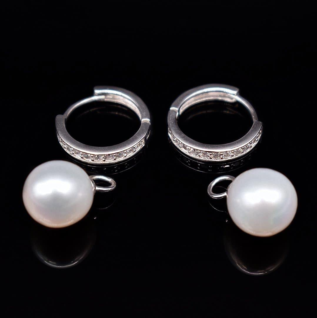 Freshwater Pearl Hoop Earrings - Keiko - Akuna Pearls