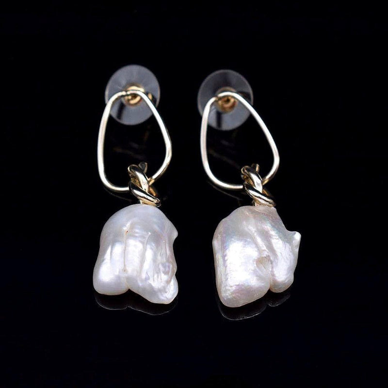 Baroque Pearl Earrings - Naughty Knotty | Akuna Pearls | Freshwater Pearl Jewellery | Made in Australia
