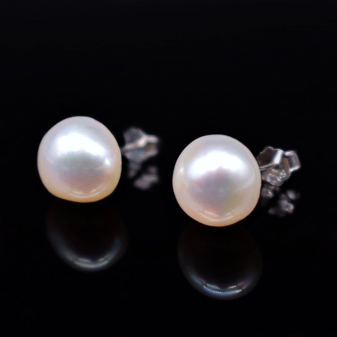 Baroque Pearl Stud Earrings - Kotori - Akuna Pearls