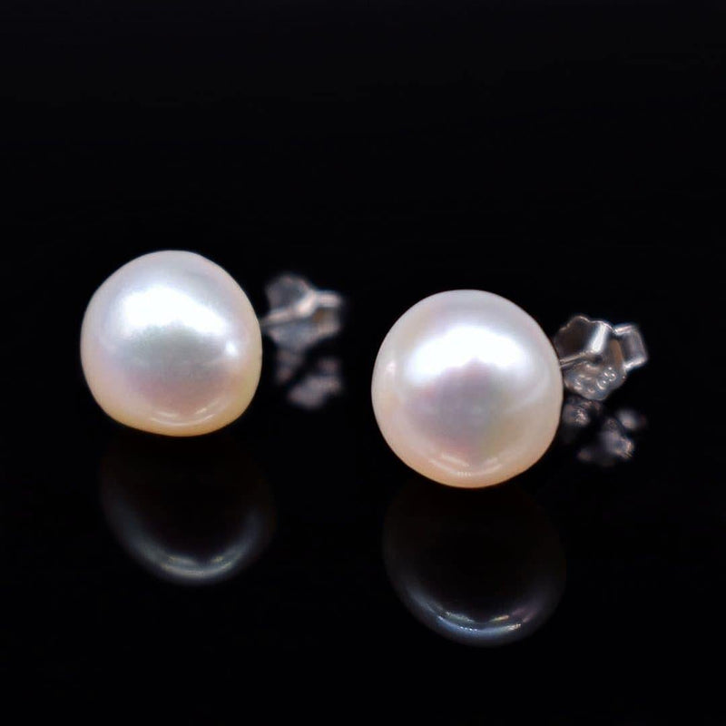 Baroque Pearl Stud Earrings - Kotori