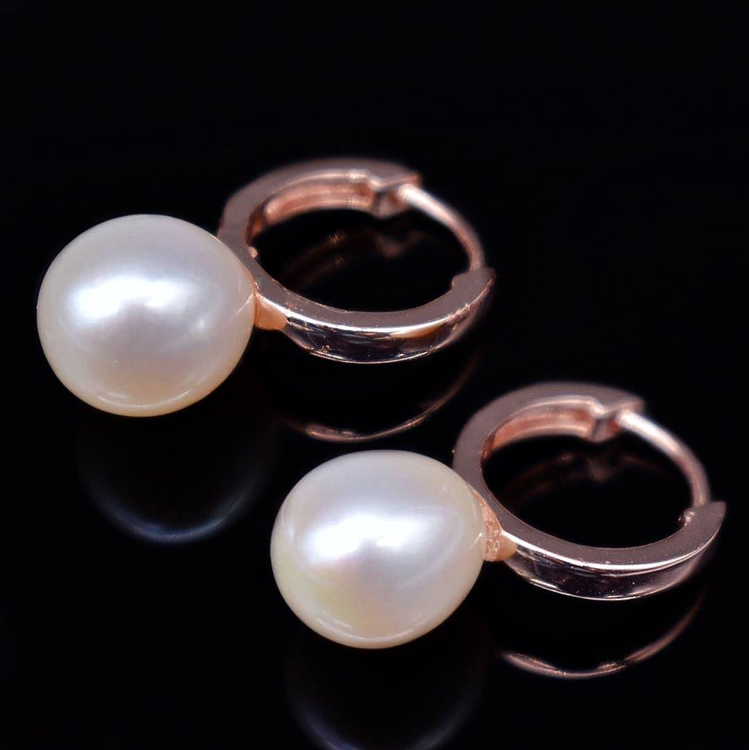Freshwater Pearl Hoop Earrings - Lucine