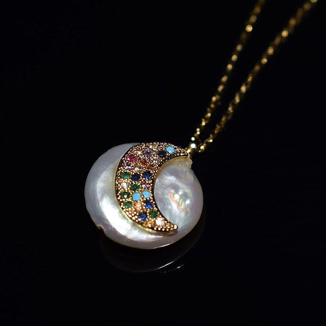 Baroque Pearl Necklace - Moon | Akuna Pearls | Freshwater Pearl Jewellery | Made in Australia