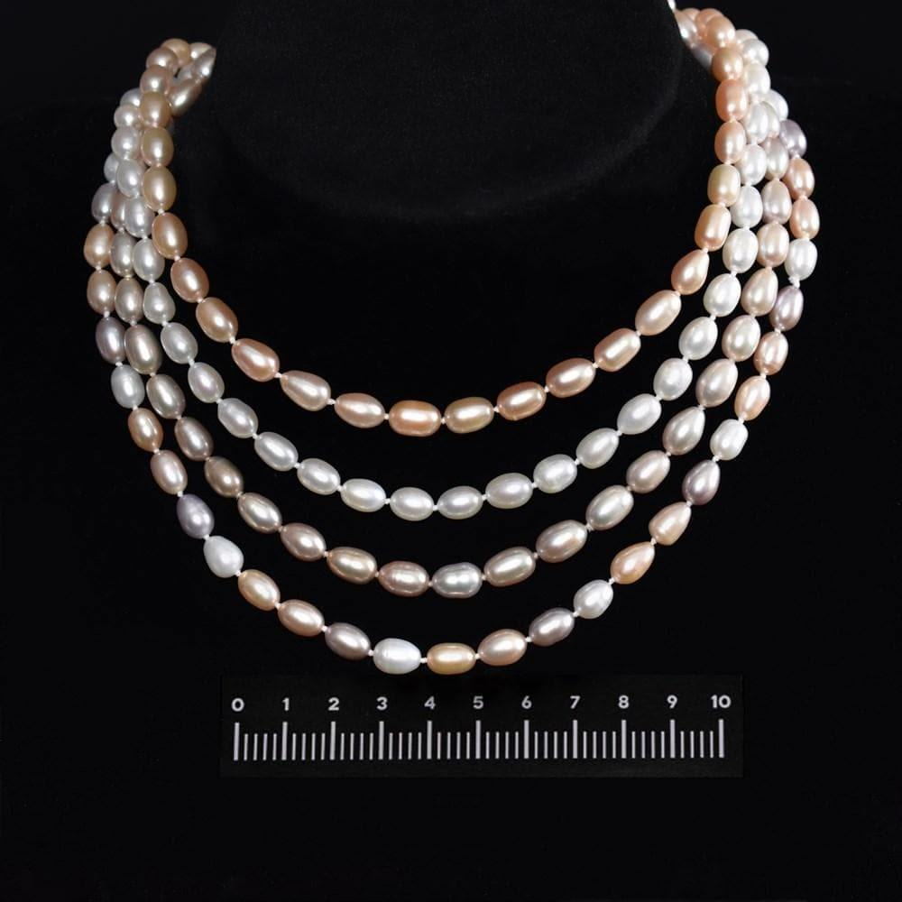 Classic Freshwater Pearl Necklace 8mm Rice | Akuna Pearls | Freshwater Pearl Jewellery | Made in Australia
