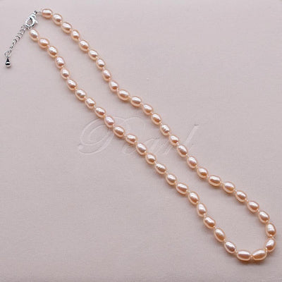 Classic Freshwater Pearl Necklace 6mm Rice | Akuna Pearls | Freshwater Pearl Jewellery | Made in Australia