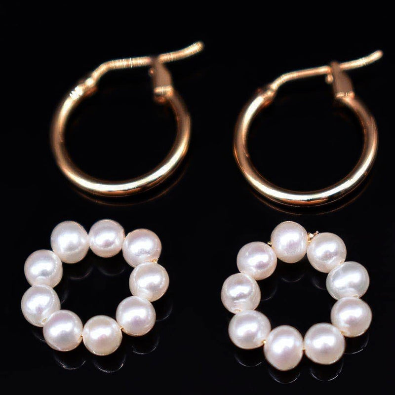Freshwater Pearl Hoop Earrings - Pon De Ring