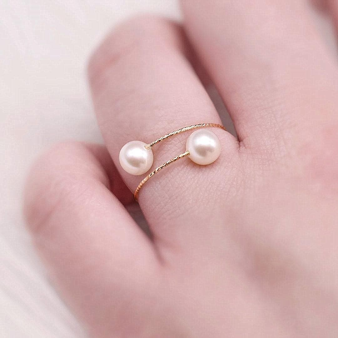 18k Gold Freshwater Pearl Ring - Fine - Akuna Pearls