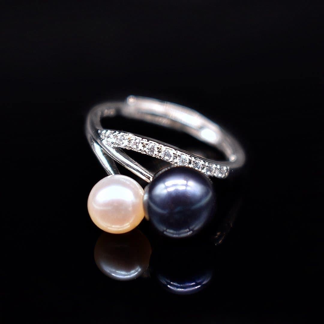 Freshwater Pearl Adjustable Ring - Felicia